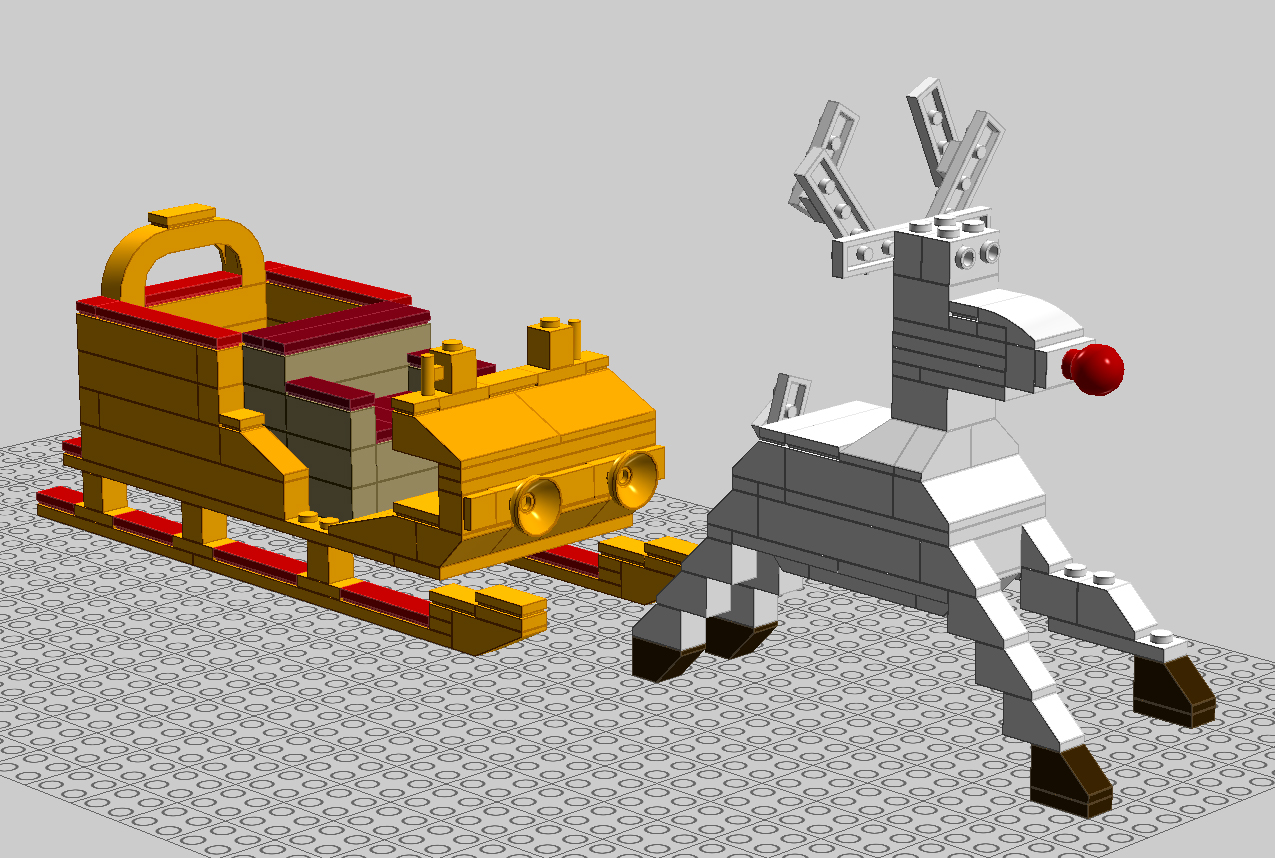 Disassembling a 3d cgi scene short version digital quill for Lego digital designer templates
