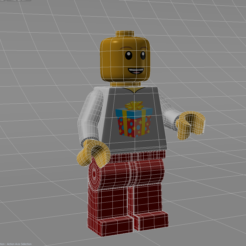 Base Minifig wireframe