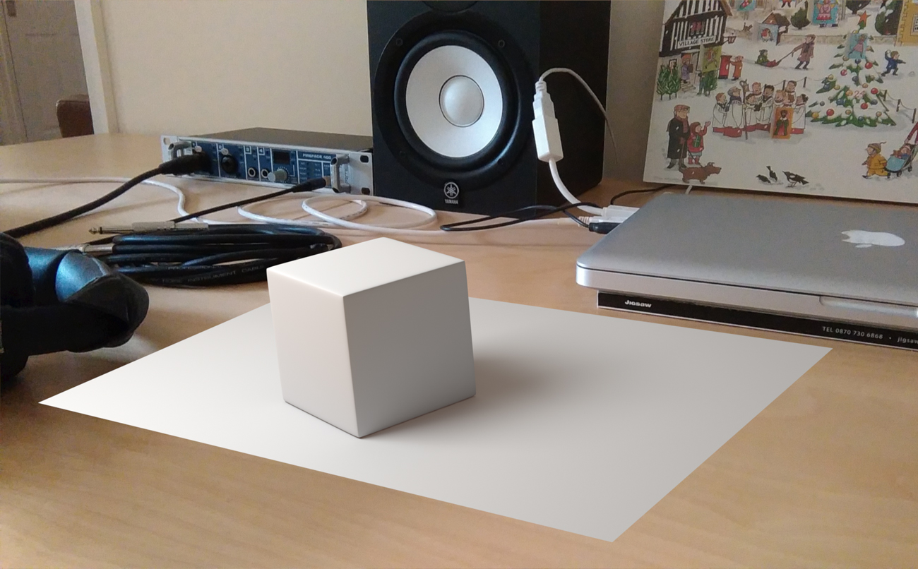 Ground plane with cube