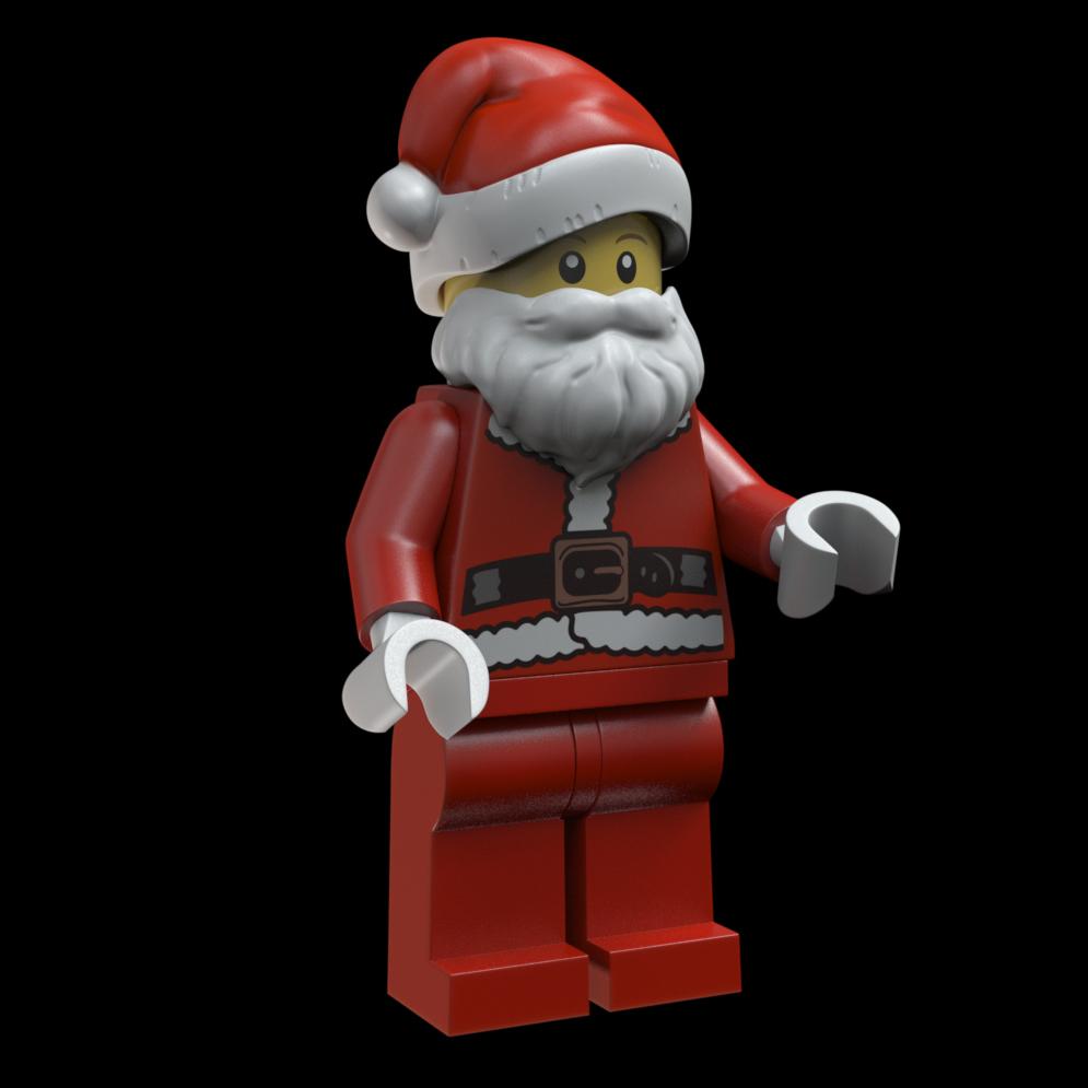 Santa Minifig render